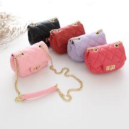 Wholesale Mini Bags Childrens - Wholesale Fashion Bags rhomboids Gold chain mini Childrens Bags Girls Leather Bag kids Best Handbags Messenger Bag baby Shoulder Bag A669