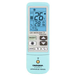 Wholesale universal remote chunghop - Wholesale- Top Deals CHUNGHOP K-209ES Universal Air Conditioner Remote Control, Support Thermometer Function (Blue White)