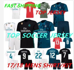 Wholesale Madrid Away - 2018 Real Madrid Home Third Soccer Jersey KIT 17 18 Away soccer shirt Ronaldo Bale Football uniforms Asensio SERGIO MODRIC RAMOS sales