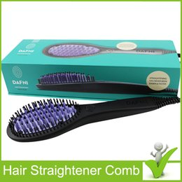 Wholesale Electric Hot Comb Hair - 2016 Hot Hair Straightener Brush Magic Comb Hair Straightening Iron Electric Hair Styling Straightening Tool Da.fni Free Shipping
