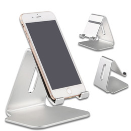 Wholesale Office Mobile - Universal Portable Aluminium Alloy Mobile Phone Holder Bed Office Desk Table Holder for iphone 8x Huawei Xiaomi Tablet Holder Stand