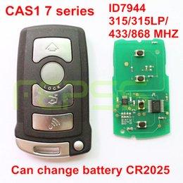 série chave esperta do bmw Desconto Inteligente Remoto Chave Fob 4 Botão 868 MHz / 433 MHz / 315LP MHz / 315 MHz ID7944 para BMW CAS1 Série 7 E65 E66