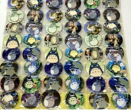 Wholesale Totoro Pins - New Cartoon 48pcs set My Neighbor Totoro Pin Badges,Round Brooch Badge Kids Clothing Accessories 4.5 cm A--18