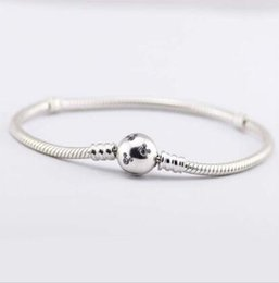 Wholesale Pandora Mouse - Newest Love micky mouse clasp logo with cz paved For pandora Bracelets DIY 925 Sterling Silver snake chain bracelet for gift