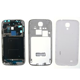 Wholesale Covered Button Frames - Full Housing Case Cover Middle frame Bezel with Side Buttons and Home Buttons Replacements for Samsung Galaxy S4 i9500 i9505 i337 free DHL