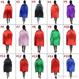 Wholesale Movie Costumes For Adults - 15 Styles 110*70cm Adult Capes Double-deck Costume Cape Superhero Cape for Big Kids Christmas Halloween Cosplay Prop Costumes Free Shipping