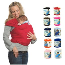 Wholesale Elastic Wrap Baby Carrier - 12 Colors Moby Wrap Elastic Cotton Newborn Two Shoulders Backpacks Solid Color Baby Carrier Wrap Canguru Baby Sling For Babies