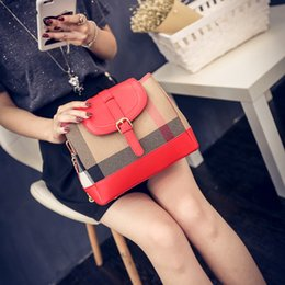 Wholesale Messenger For Ladies - Free shipping colorful women leather handbag high qality canvas tote for women messenger bags famous brand casual crossbody Ladies purses
