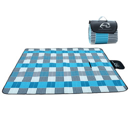 Wholesale Inflatable Climb - 2017 Outdoor Picnic Mat Camping Baby Climb Plaid Blanket Beach Waterproof Moistureproof Picnic Blanket Baby Mat Camping Mat