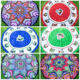 round tablecloths cotton Coupons - Round Mandala Beach Towel Tapestry Hippy Boho Tablecloth Wrap Covers Shawl Picnic Mat Hot Sell Yoga Mats 17 5sh J R