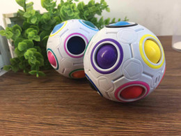 Wholesale Rainbow Ball Magic Cube Speed Football Fun Creative Spherical Puzzles Kids Educational Learning Toys games for Children Adult Gifts WD018