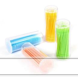 Wholesale Individual Eyelashes Glue - Disposable Eyelash BrushDisposable Swab Micro Brushes Individual Eyelash Extension Tool Lash Glue Remove Tools 10000PCS LOT