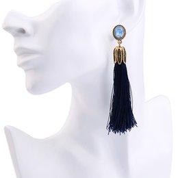 Wholesale Designer Handmade Earrings - New designer statement jewelry wholesale three colors bohemian tassel earring handmade hanging long drop earrings for women gifts fashion