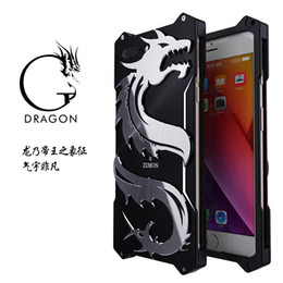 Для Iphone 7 8 plus case dragon Design броня Heavy Dust Metal алюминиевый Thor Ironman чехол для iphone 6 6 S plus от