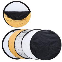 Fotografie Reflektor 60cm 5 in 1 Fotografie Faltbarer Lichtscheibenreflektor Runder Multi-Disc-Lichtreflektor für das Studio oder ein beliebiges Foto von Fabrikanten