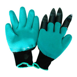 Wholesale Dig Tool - Creative Garden Genie Gloves Five Fingers With Claws Digging Rose Planting Glove Without Other Tools Rinses Clean Keep Hands Dry 4 7fh R