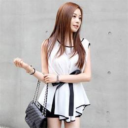 Wholesale Wholesale Slim Fit T Shirt - Wholesale- Lucky 2017 New Fashion Lady Summer Sweet Slim Fit Lady Chiffon Sleeveless T-Shirt Women Tops Blusas 100% High Quality Blusas