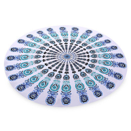 Wholesale Fashionable Beach Towel Applique Printed Round Cushion Lightweight Easy to Carry Beach Mat