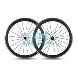 Wholesale Clincher Rims Alloy Braking Surface - Carbon Bicycle Wheels 700C Road Bike Carbon+Aluminium Alloy Brake 50mm Depth*23mm Width Clincher Rim 3K UD Glossy Matte Surface
