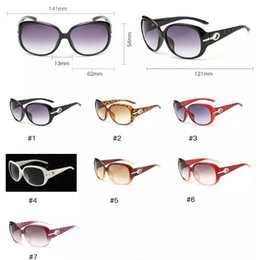 259838a3436 7 Colors Big Frame Sunglasses Personality Sunglasses for Unisex Luxury Brand  Vogue Glasses European and American Eyewear CCA7750 100pcs