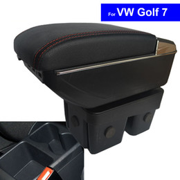 Wholesale Vw Golf Center Console - Car Stlying Accessories Leather Center Console Armrest Storage Box for Volkswagen VW Golf 7 2014 2015 2016 2017 Armrests Free Shipping