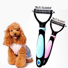 Wholesale Professional Cat - 2017 newest Professional Pet Dog Cat Hair Grooming Undercoat Rake Comb Mat Breaker Dematting Tool pet brush