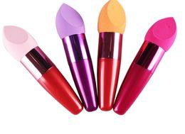 Esponja corretiva on-line-Fundação maquiagem Pincel de Esponja Escovas Cosméticas Gota Oval Base Líquida Creme Corretivo Marca escova Com Presente Livre