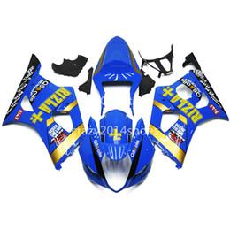 5 regalos gratis Nueva ABS motocicleta Kits de carenado 100% aptos para SUZUKI GSXR1000 03 04 K3 GSXR1000 2003 2004 azul y amarillo bonitos 135 desde fabricantes