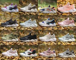 Wholesale Super Quality White Sports Shoe - 2017 HUARACHE 1 Men Women Running Shoes Airs Cushion Super AAA+ quality Leather Outdoor Athletic Sports Casual Huaraches Shoe 36-46