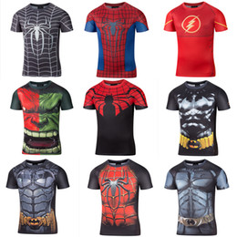 Wholesale Men S Batman Costume - Batman VS Superman T Shirt Tee 3D Printed T-shirts Men Short sleeve New Cosplay Costume Clothing Tops Male Halloween Costumes