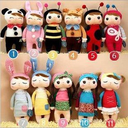 Wholesale Metoo Stuff Toys - Hot sale Angela Plush Toys Metoo Stuffed Rabbit Dolls Toys Nice Boxes Kids Christmas Gifts