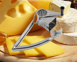 Wholesale Metal Lemon - 1PC New Stainless Steel Classic Rotary Cheese Grater Safe Fondue Chocolate Lemon Cooking Baking Tools LB 071