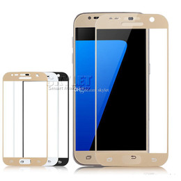 Wholesale Tempered Screen Protector Samsung S6 Full - For Galaxy S7 Tempered Glass Samsung S7 Full Cover Protector Film Colorful S6 RIM Tempered Glass Screen Protector 100pcs With Retail Package