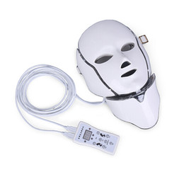 mask shipping Promo Codes - Hot new product IPL light therapy Skin rejuvenation led neck mask with 7 colors for home use free shipping