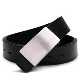 Wholesale Mens Adjustable Belts - Wholesale- NEW Mens Adjustable Faux Leather Alloy Buckle Belt Black
