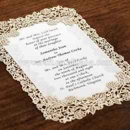 Wholesale Menu Wedding - Wholesale- Hot new fancy wedding decoration beautiful lace menu card invitation card