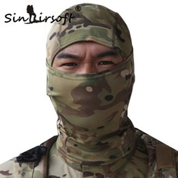 Wholesale Helmet Cycles - SINAIRSOFT Rattlesnake Tactical helmet Airsoft Hunting Wargame Breathing Dustproof Face Balaclava Mask Ski Cycling Full Hood