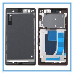 Sony xperia z preto on-line-Habitação original do chassi da parte traseira da parte dianteira do LCD para sony Xperia Z L36H LT36 C6603 C6602