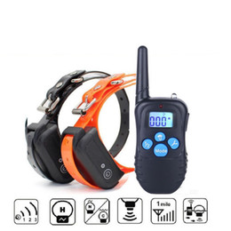 Wholesale Electronic Remote Dog Training Collar - Waterproof Electronic dog Shock Remote Control 2 Dogs Training Collar 330 yards 6 setS up