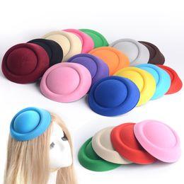 "Wholesale Diy Fascinator Hats - 14 colors lot DIY Lady Women Hair Accessory 6.3"" 16cm MIini Top Hat Fascinator Pillbox Hats Base Wholesale Free Shipping 14 colors Set"