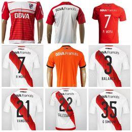 Wholesale Rivers Red - 17 18 CA River Plate Jersey Soccer Primera Division de Argentina 7 R.MORA Football Shirt 9 CRESPO 10 Martinez 13 Alario Custom Thai Quality