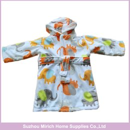 Wholesale Double Sided Microfiber - Double Sides Comfortable Microfiber Hooded Baby Bathrobe Loverly Design Fleece Newborn Baby Robes From China Factory
