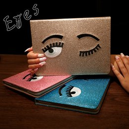 Wholesale Eye Drop Plastic - FOR iPad2 3 4 Protective Case iPad mini1 2 3 mini4 Eyes Design Dormancy UNBreak Leather Case Full Package Edge Protection Tablet PC CASE