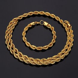 Wholesale Long Cuban Link Chain - High Quality 100% 18K Gold Plated 80cm Long Cuban Link Chain Hiphop Franco Chain Statement Necklace Men Jewelry