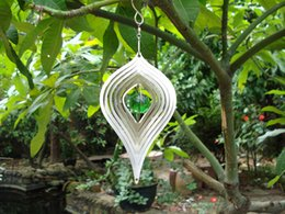 Wholesale Wind Spinners Stainless Steel - Gazing Tear Drop Stainless Steel Wind Spinner Home Garden with Gazing Ball Epoxy Coating w  Sparkles Powder Laser Cut Never Rust 6inch