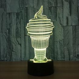 aa creme Rabatt 3D Eis Lampe 7 RGB bunte Lichter USB trieben AA-Batterie-Behälter-Noten-Knopf-Großhandelsdropshipping an