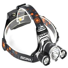 2019 roter cree led scheinwerfer 2016 großhandel 5000lm CREE XML T6 + 2R5 Led-scheinwerfer Scheinwerfer Scheinwerfer Licht Taschenlampe 18650 Taschenlampe Camping Angeln Wiederaufladbare Laterne