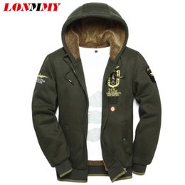 Wholesale Wool Hoodies For Men - Wholesale-LONMMY 3XL 2016 wool warm winter coats mens hoodies and sweatshirts Cardigan jackets Clothes wear uniform arm tracksuits for men
