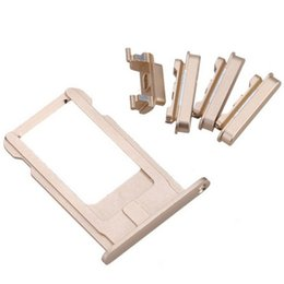 Wholesale Parts Trays - 100PCS New Sim Card Tray Slot Holder + Side Buttons Sets Assembly for iPhone 6 4.7 inch Mobile Phone Replacement Parts free DHL
