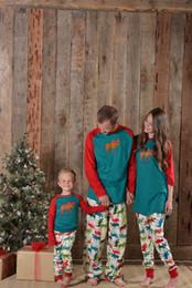 Wholesale Mom Son Outfits - 1 Sets Family christmas pajamas 2017 Elk family matching outfits Fashion Patchwork Long sleeve Mama mom like-father-like-son